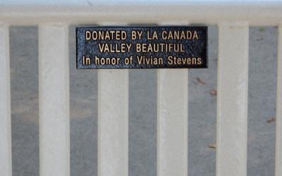 Vivian Stevens' Memorial Bench